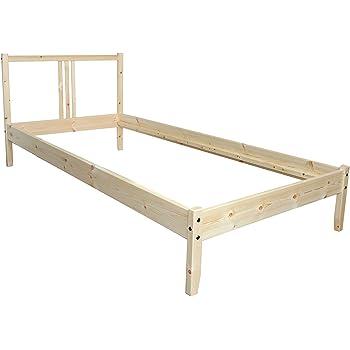 Ikea Bettgestell Fjellse Holz Bett In 90x200 Cm Aus Massiver Unbehandelter Kiefer Amazon De Kuche Haushalt