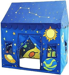 FEE-ZC stort utrymme för barn leka tält inomhus utomhus pojkar leksaksspel hus barn tipi flickor prinsessa slott tält leks...