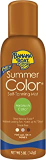 Banana Boat Self Tanning Spray for All Skin Tones, Airbrush Color, Reef Friendly, 5 Ounce..