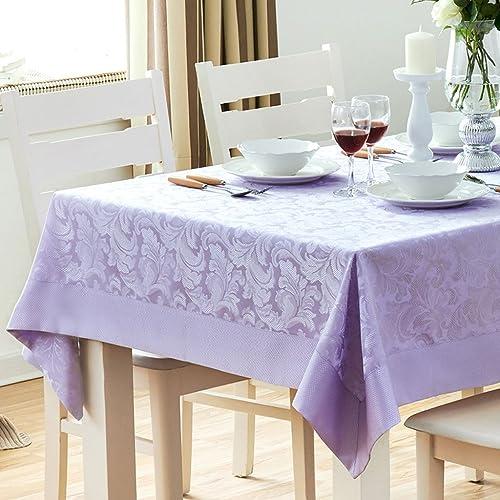 Tischdecken High-End-Purple Solid Farbe Pastoralen Wasserdichten Esstisch Tuch TV Schrank Couchtisch Abdeckung KKY-Enter (Größe   140  180cm)