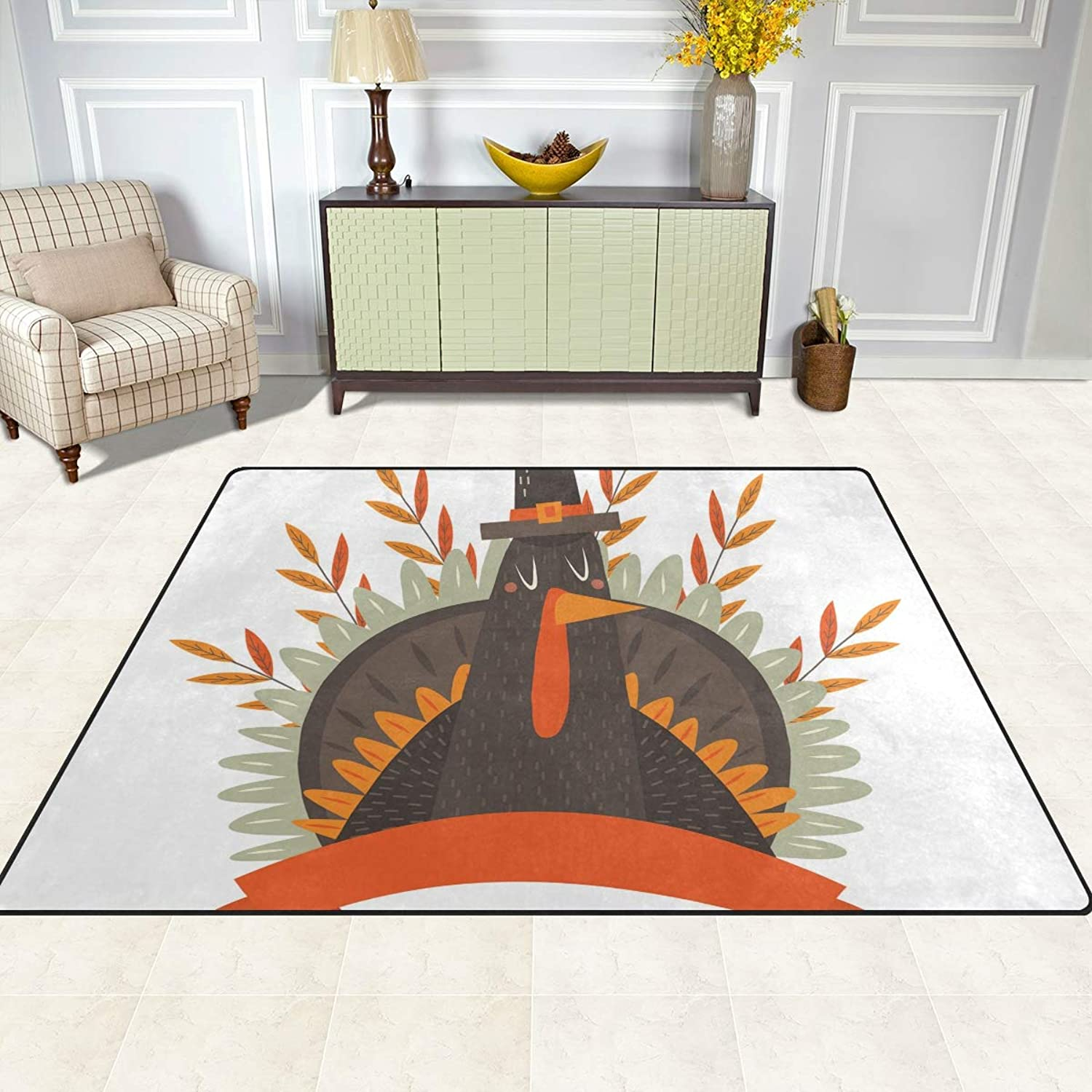 FAJRO Thanksgiving Day Turkey Rugs for entryway Doormat Area Rug Multipattern Door Mat shoes Scraper Home Dec Anti-Slip Indoor Outdoor