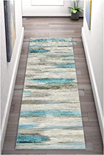 HAIPENG Extra Long Runner Rug for Hallway, Abstract Entrance Mat with Non Slip Backing, Cuttable Area Rugs for Corridor Ki...