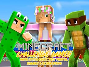 Clip: Challenge Games Minecraft with Little Kelly, Tiny Turtle, Sharky & Scuba Steve