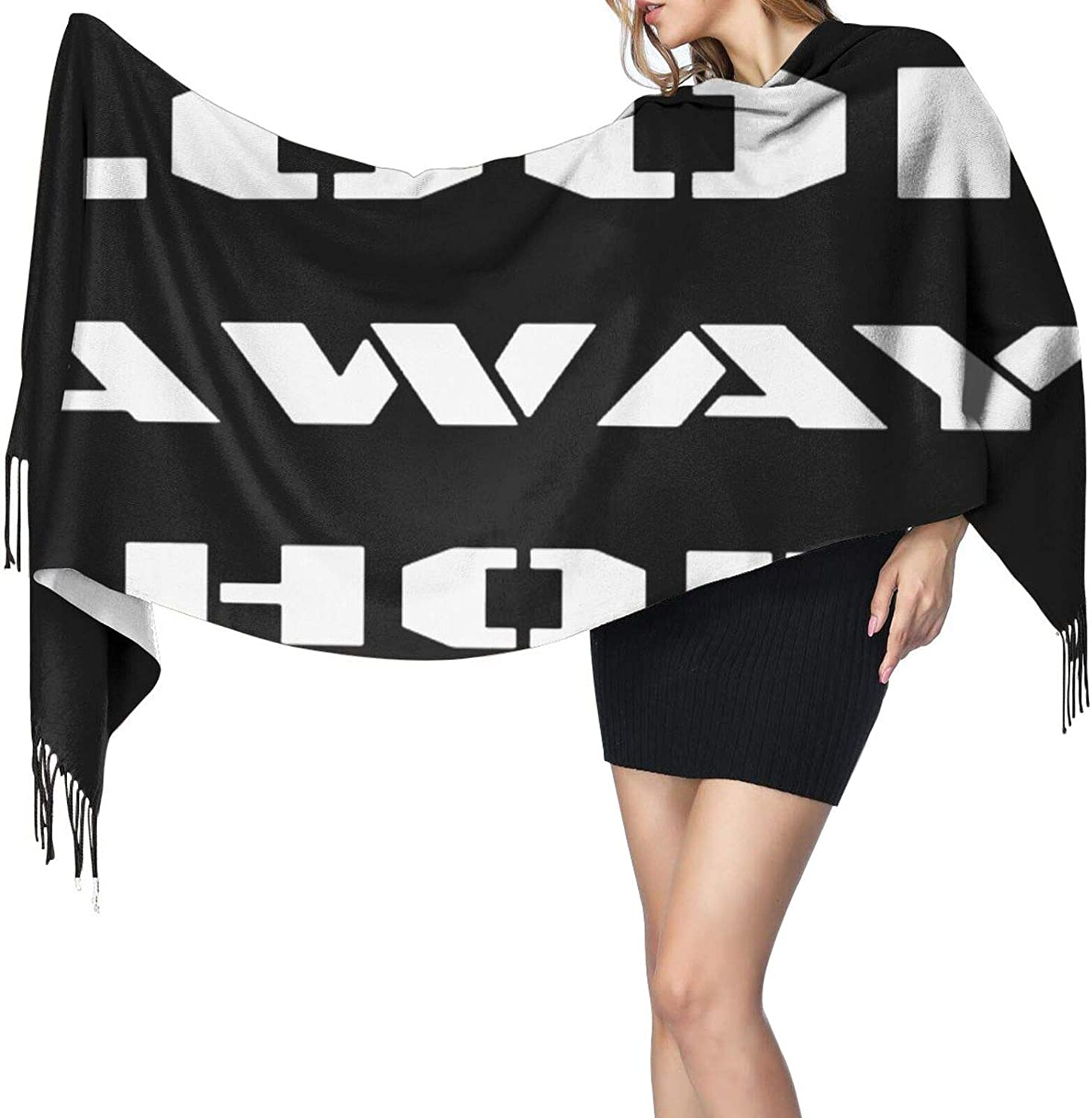 Cashmere fringed scarf Look Away Hoe winter extra large scarf