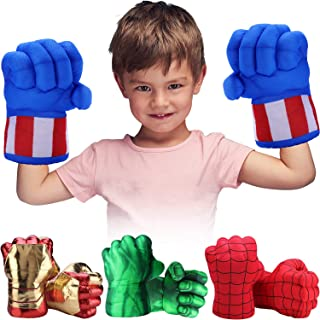 Toydaze Superhero Toys Fists for Boys, Infinity Gloves Superhero Costumes Hands, Blue