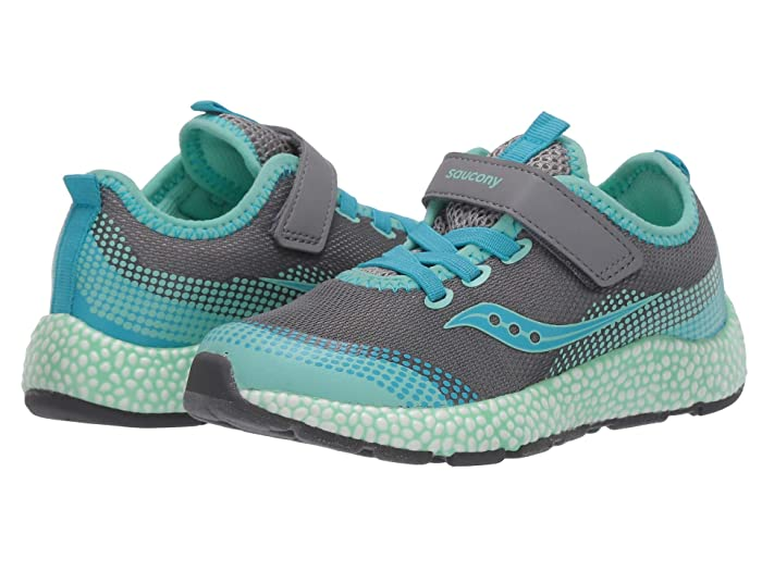 Saucony Kids  S-Astrofoam (Little Kid/Big Kid) (Grey/Turquoise) Girls Shoes