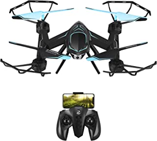 Remote Control Drone RC Drone 720P HD Camera Quadcopter Helicopter with Altitude Hold 2.4GHz 6-Axis Gyro LED Lights Foldable Drones for Kids Beginners