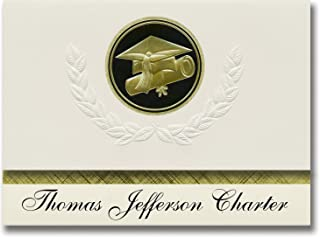 Signature Announcements Thomas Jefferson Charter (Caldwell, ID) Graduation Announcements, Presidential style, Elite packag...
