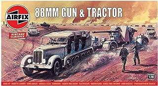 Airfix 88mm Gun & Tractor 1:76 Vintage Classics Military Plastic Model Kit A02303V