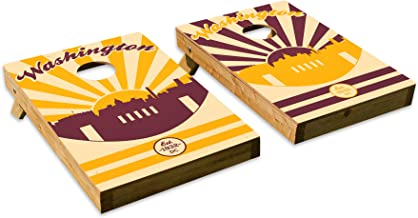 Washington Redskins DesignCornhole/Bean Bag Toss Board Set – Made in USA Wood - 2'x3' Tailgate Size - Includes 8 Corn-Filled Bean Bags