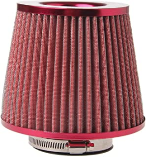 "Air Filter Universal Vehicle Air Intake Chrome Open Top Cone Air Filter Breather 3"" Inlet TONGDAUAE"