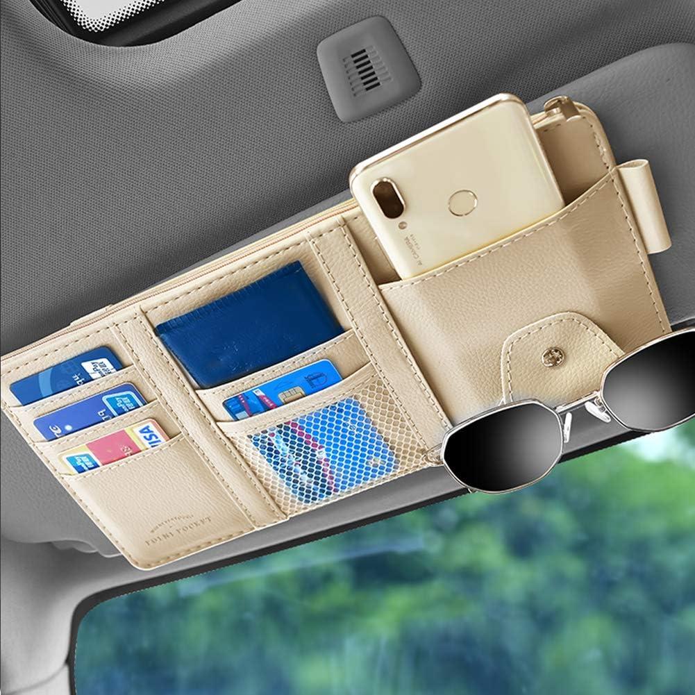 Leather Car Sun Visor Organizer Interior Pocket Direct stock discount 100% quality warranty Accessories Auto
