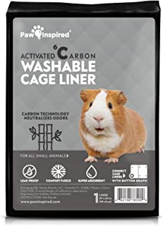 Paw Inspired Washable Guinea Pig Cage Liners | Fleece Bedding for Guinea Pigs Ferrets, Rabbits, Hamsters, Small Animals | ...