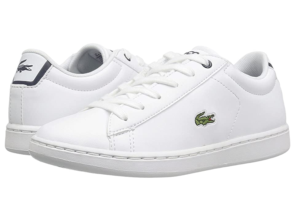 Lacoste Kids Carnaby Evo (Little Kid) (White/Navy) Kids Shoes