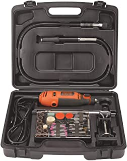 BLACK+DECKER RT18KA-IN 180W Electric Rotary Tool with 118 pc Acc. Kit Box for Grinding,Polishing,Engraving and Carving