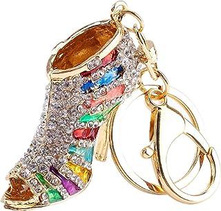 Yosoo Phone Car Bag Key Ring Keychain Charm Gift - Perfect for Women Ladies Girls' Key Bling Pink Shoe Purse Fashion Decoration