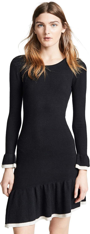 BB DAKOTA Women's Never Tardy Asymmetric Ruffle Hem Sweater Dress