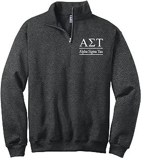 Alpha Sigma Tau Quarter Zip Pullover Sweatshirt