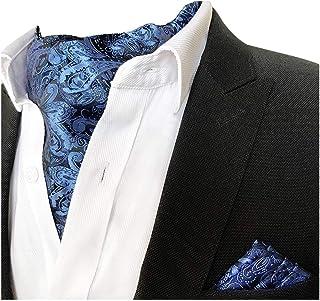 مجموعة كانغرون رجالية بيزلي أسكوت ربطة عنق وجيب مربعة مجموعة LJP2ZH