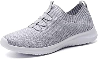 Women's Comfortable Walking Shoes - Tennis Athletic Casual Slip on Sneakers