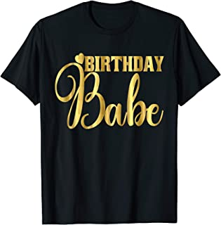 birthday babe shirt