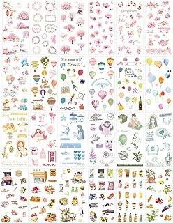 Cute Stationery Sticker Set (Assorted 24 Sheets) Flower Balloon Kawaii Girl Food Bottle Drink Snack Sticker Scrapbooking Travel Journal Diary Book Album Decorative Label School Office Supplies