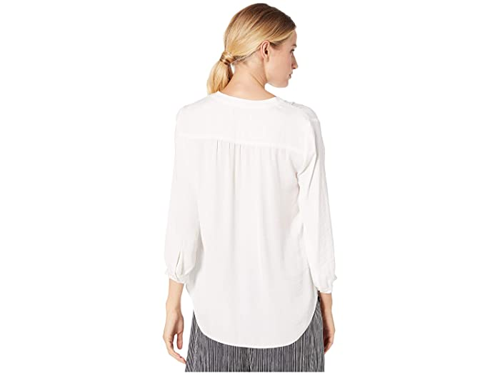Vince Camuto 3/4 Sleeve V-neck Rumple Blouse- Ropa De Mujer