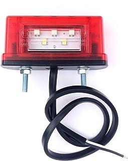 Bestlymood Luci Targa LED Luci Targa Luci Posteriori Universali 12V 24V per Auto Rimorchio Veicolo Camion Ute Van Caravan Autocarri