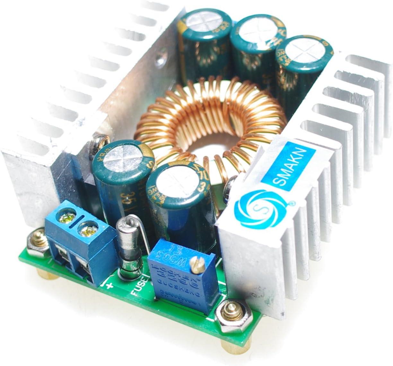 SMAKNÂ 10A/100W 4.5-30V to 1.25-30V DC Buck Volt Converter Step Down 12V Car Power Supply Voltage Regulator