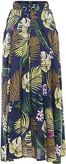Elastic Waist Ankle Length Skirt with Pockets Maxi Long Skirt Beach Skirt