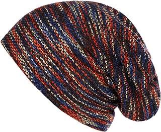 iZHH Men Women Baggy Warm Crochet Winter Wool Knit Ski Beanie Skull Slouchy Caps Hat High Quanlity(Red-f,Free Size)