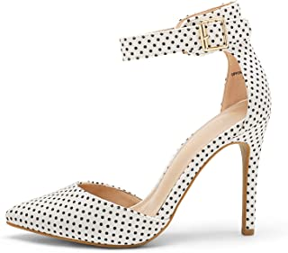DREAM PAIRS Oppointed-Ankle Women's Pointed Toe Ankle Strap D'Orsay High Heel Stiletto Pumps Shoes.