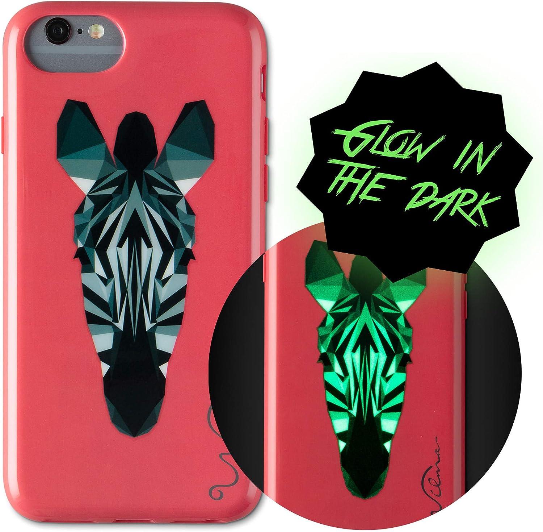 Wilma iPhone 6 7 8 Case Zebra Glow Dark Soft Slim The Attention brand in Award
