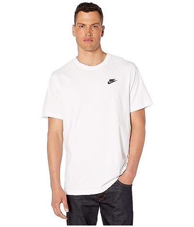 Nike NSW Club Tee (White/Black) Men