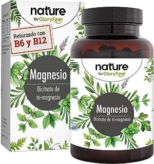 Citrato de Magnesio Premium 2580mg Alta dosificación - 400mg de Magnesio puro elemental + vitamina B12 y B6 por dosis diaria- 180 cápsulas veganas sin aditivos- Fabricado en Alemania