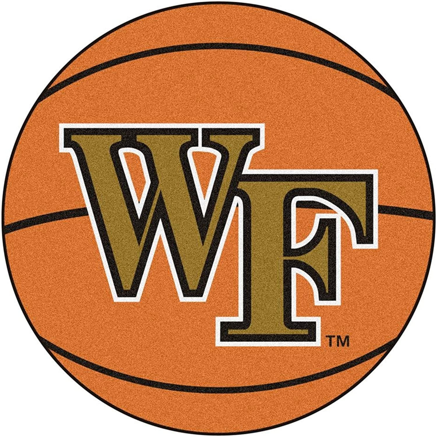 Fanmats Waske Forest Demon Deacons BasketballShaped Mat
