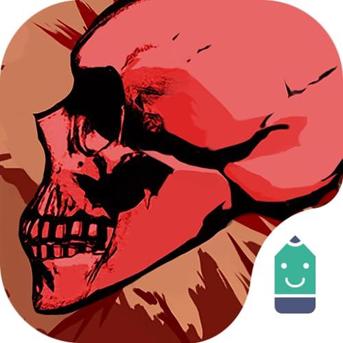 Bloody Skull Theme&Emoji Keyboard