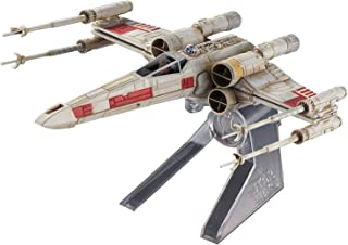 New DIECAST Toys CAR HOT Wheels Elite X-Wing Fighter RED 5 Starship - Star Wars Episode IV: A New Hope CMC91