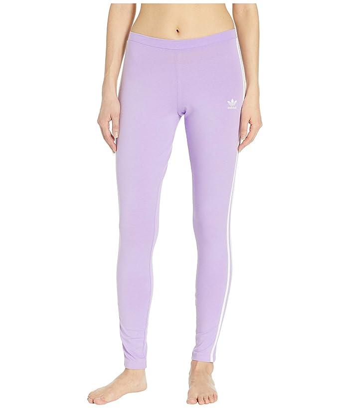 adidas Originals 3 Stripes Tights (Purple Glow) Women
