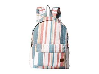 Roxy Sugar Baby Canvas Backpack (Snow White Retro Vertical) Backpack Bags