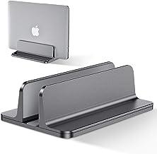 Bewahly Vertikal laptop-stativhållare, notebookstativ, utrymmesbesparande laptophållare i aluminium kompatibel med MacBook...