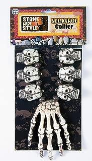 Forum Novelties Unisex-Adults Voodoo Necklace-Hand/Skull, White, Standard