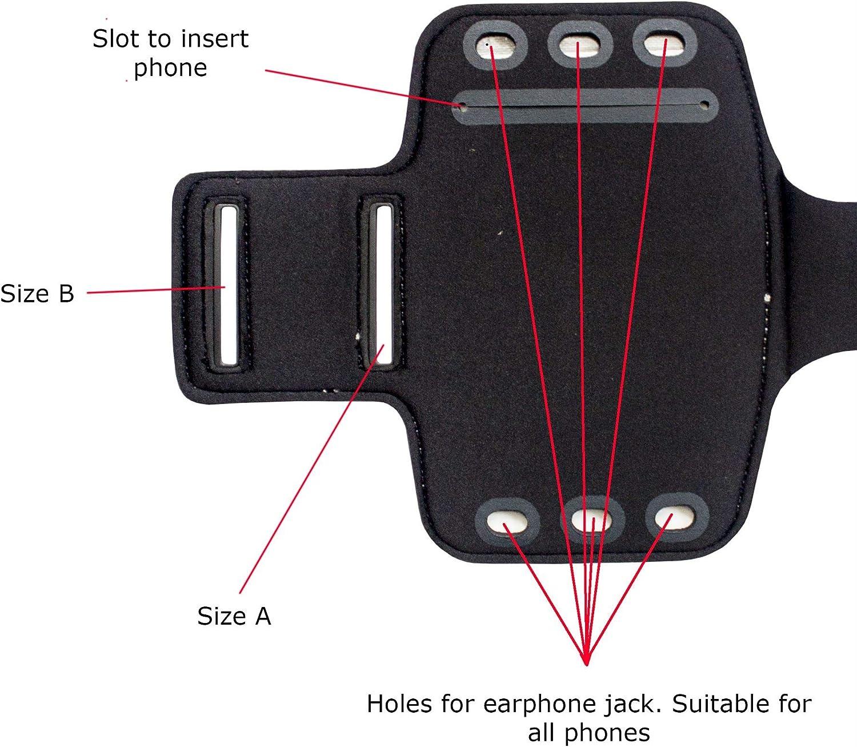A20 A70 A50 A40 per Samsung Galaxy A10 A10e sport con tasca per chiavi A20s A2 Core A60 palestra A30 A20e Fascia da braccio a prova di sudore completamente regolabile per corsa