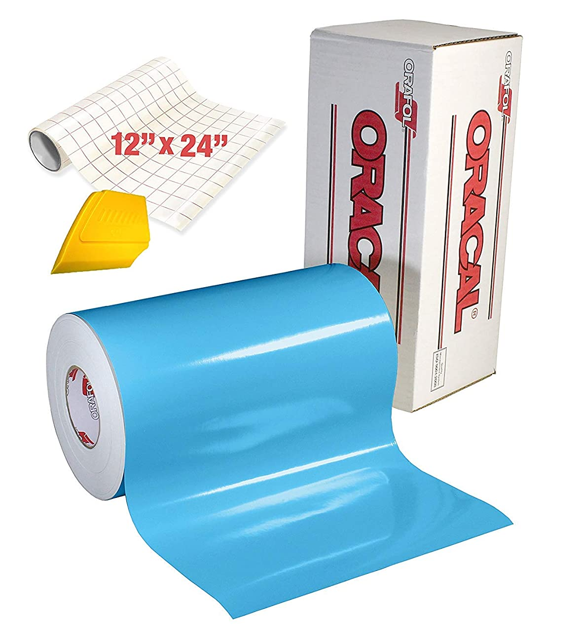 ORACAL 651 High Gloss Craft Adhesive Vinyl 15ft x 1ft Roll w/ 12