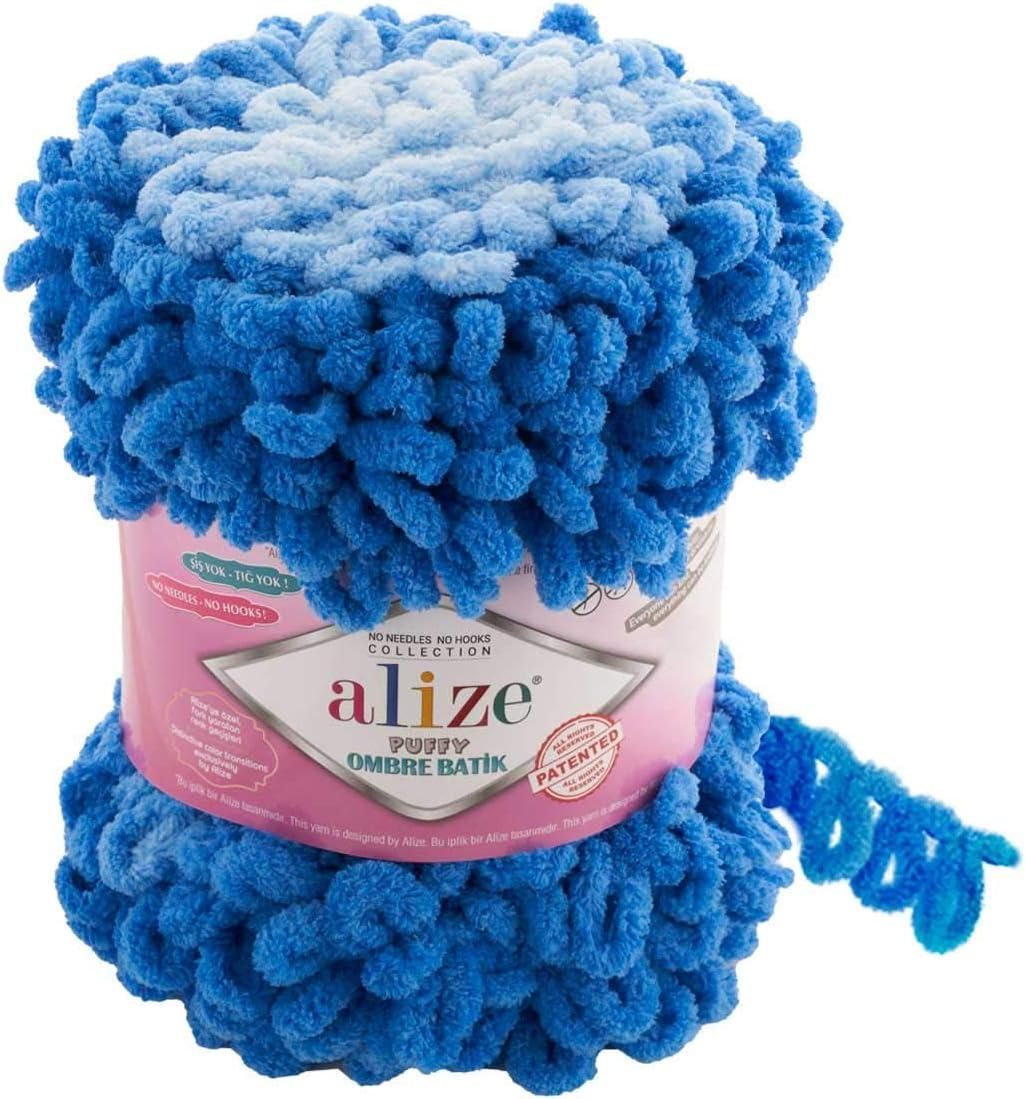 Selling Alize Puffy Ombre Batik Yarn Popular products 1 61 600 SKEÄ°N YDS Micropolye GR