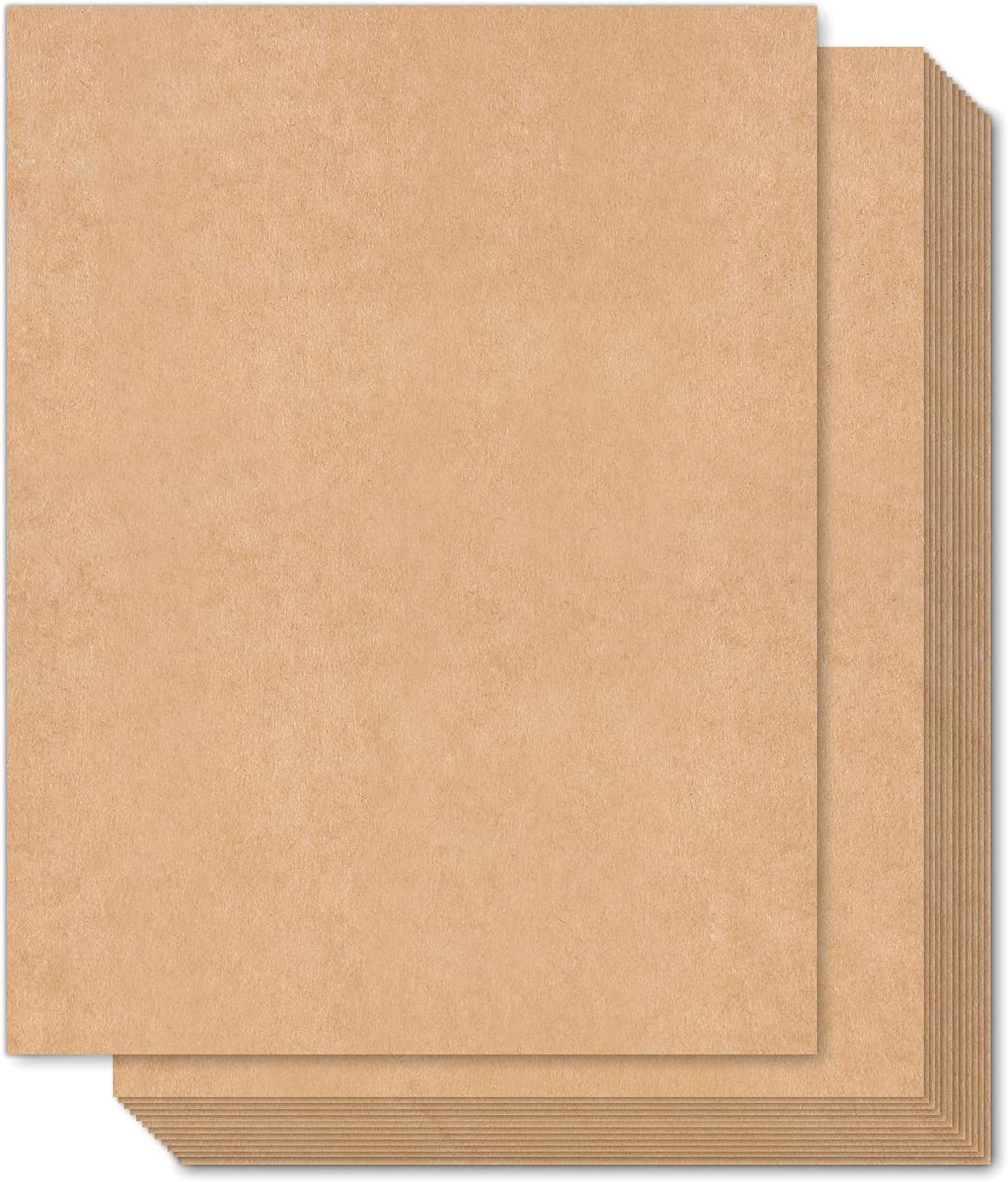 """Brown Kraft Cardstock Thick Paper 100 Sheets, Ohuhu 8.5"""" x 11"""" Heavyweight 90lb Cover Card Stock for Crafts and DIY Cards Making : Arts, Crafts & Sewing"""