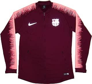 Men's Official 2018-2019 FC Barcelona Anthem Jacket 894361-669 Maroon Medium