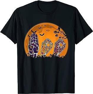 Pride ASL Boo Halloween Costume Funny Sign Language T-Shirt