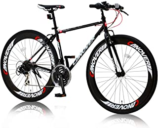 カノーバー(CANOVER) クロスバイク 自転車 21段変速 60mmエアロディープリム Vブレーキ CAC-025 NYMPH