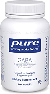 Pure Encapsulations - GABA - Supports Positive Mood and Relaxation* - 60 Capsules